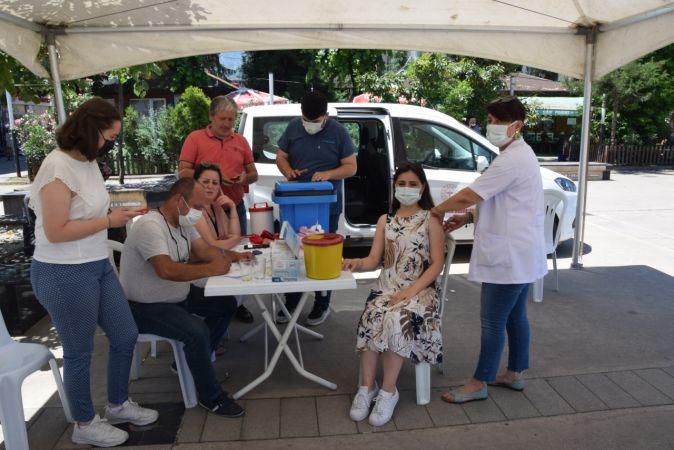 Espiye ilçesinde aşı çadırı kuruldu