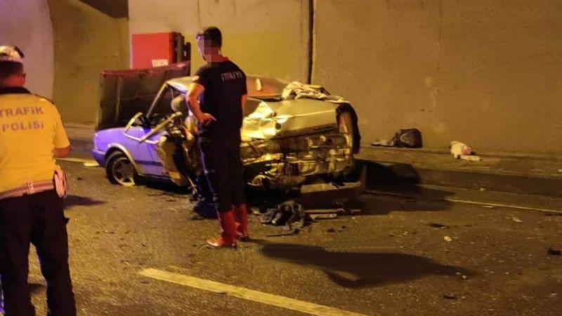 Giresun'da trafik kazası 1 ölü, 4 yaralı