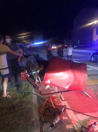 Giresun'da araç yaya üstgeçidine çarptı: 1 ölü