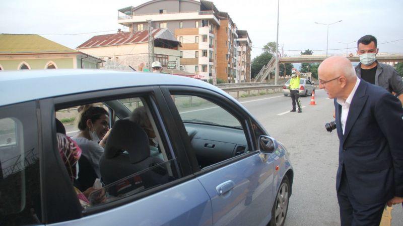 İçişleri Bakan Yardımcısı Erdil, Giresun'da trafik denetimine katıldı