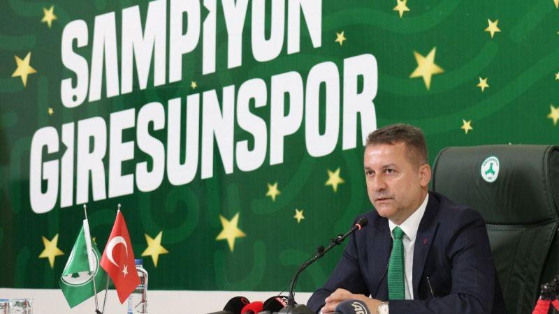 """Hakan Karaahmet'ten flaş kombine açıklaması!  """"Bizim tercihimiz Giresunspor'dur"""""""