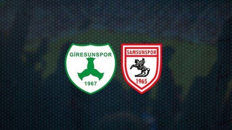 Giresunspor'un Samsunspor maçı ilk 11'i belli oldu