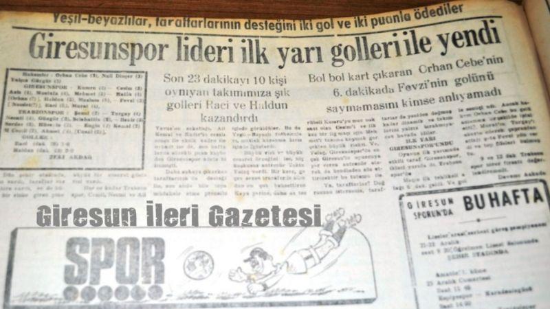 GZT Giresunspor - Trabzonspor derbisinde 7. randevu