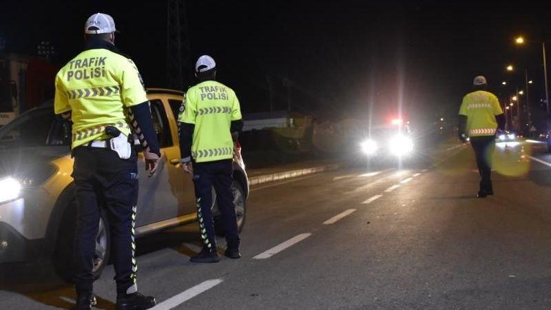 69 araç trafikten men edildi