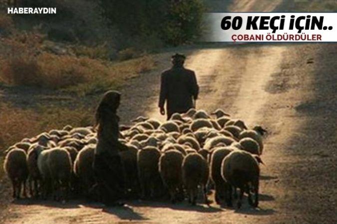 60 keçiyi çalmak için çobanı döverek öldürdüler