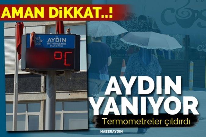 Termometreler 48'i gösterdi