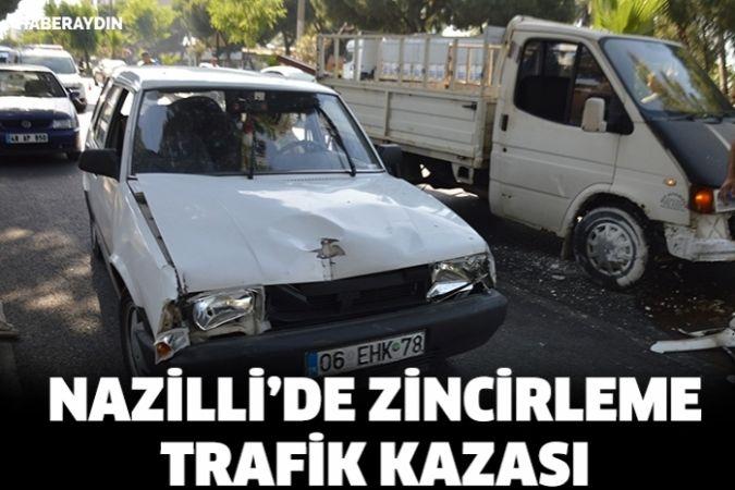 Nazilli'de zincirleme trafik kazası: 1 yaralı