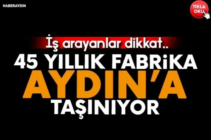Türkiye'nin alıştığı 45 yıllık koku artık Aydın'dan yayılacak