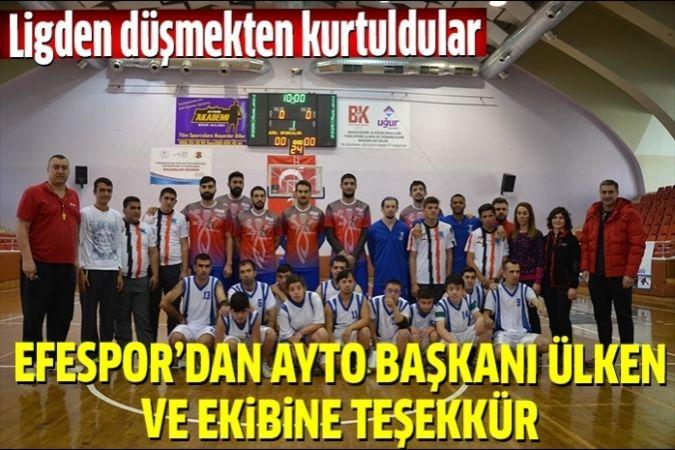 Efespor'dan AYTO Başkanı Ülken ve Yönetimine teşekkür
