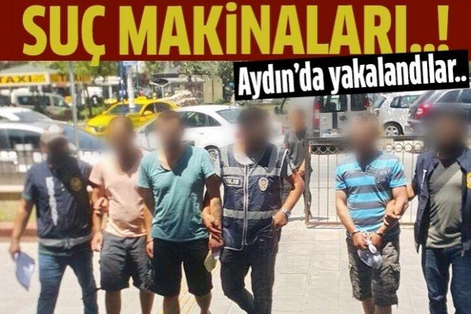 Kuşadası'nda kesinleşmiş hapis cezası bulunan 4 kişiyi yakalandı