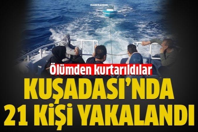 Kuşadası Körfezi'nde 21 kaçak göçmen yakalandı