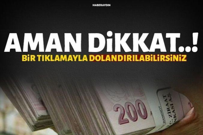 Kampanya diye tıkladı bin lira dolandırıldı