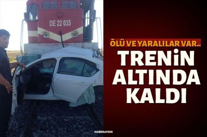 Otomobil trenin altında kaldı: 1 ölü 3 yaralı