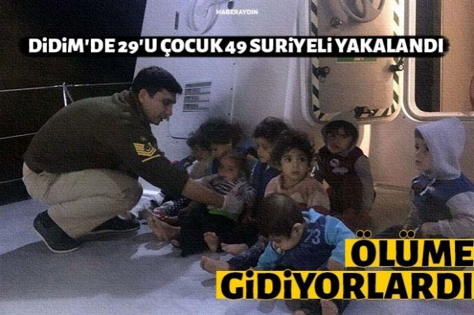 Sahil Güvenlik lastik botla denize açılan 49 Suriyeliyi kurtardı