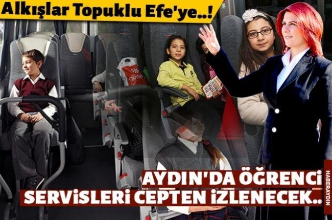 Aydın'da öğrenci servislerini veliler cepten takip edecek