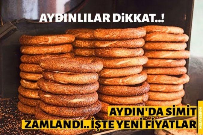 Aydın'da simide yüzde 25 zam