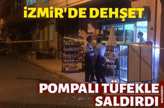 Markete pompalı tüfekle saldırı: 2 yaralı