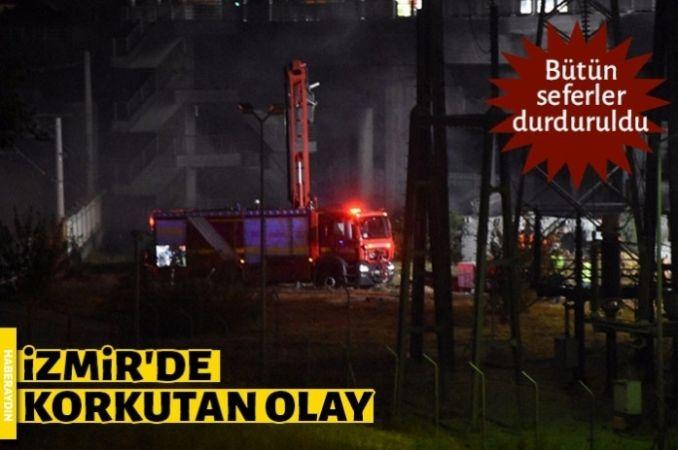 Metro istasyonunun yakınında yangın çıktı, seferler durduruldu