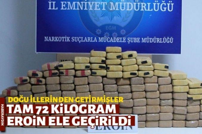 Sakarya'da 72 kilogram eroin ele geçirildi