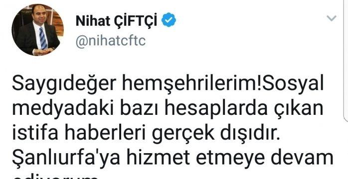 Şanlıurfa Büyükşehir Belediye Başkanının istifa ettiği iddiası sosyal medyayı salladı