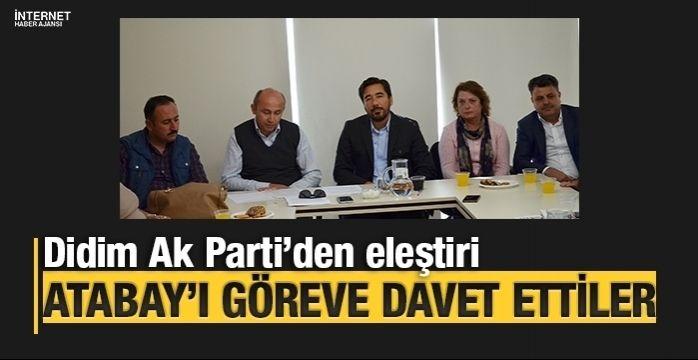 Didim AK Parti'den belediyeye çatı eleştirisi