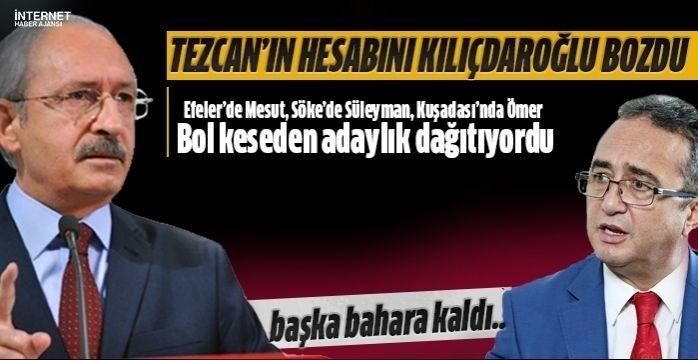 CHP'li Tezcan'ın hesabını Genel Başkan bozdu