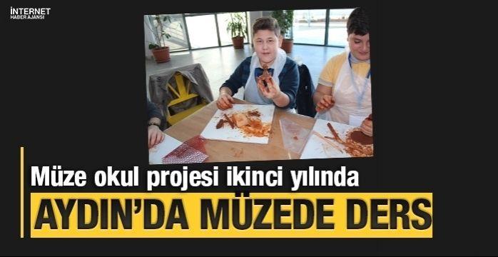 Aydın'da öğrenciler müzede ders işliyor