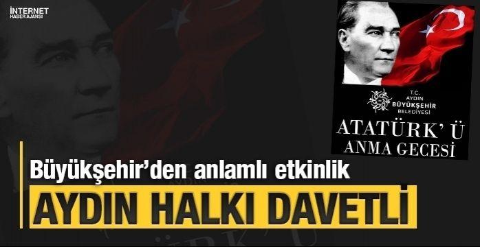 Aydın Büyükşehir Atatürk'ü anacak