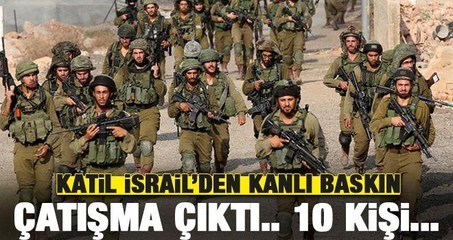 İsrail askeri Batı Şeria'ya baskın yaptı