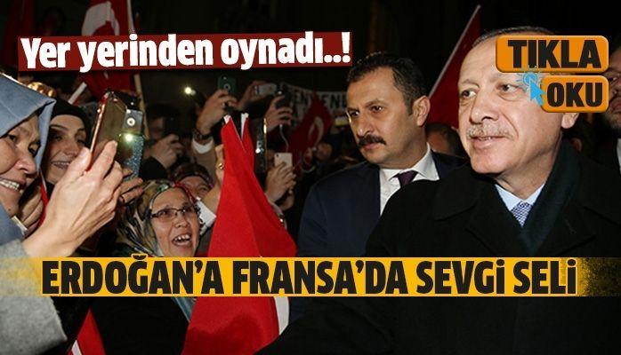 Cumhurbaşkanı Erdoğan'a Fransa'da sevgi seli