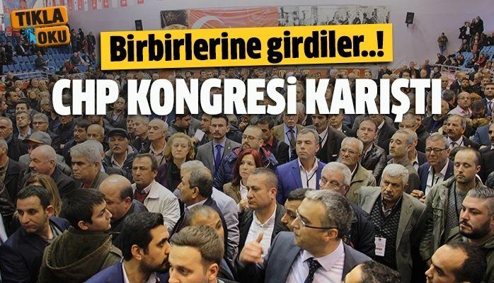 CHP kongresi karıştı