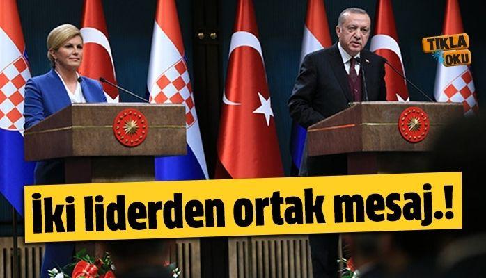 İki liderden ortak mesaj