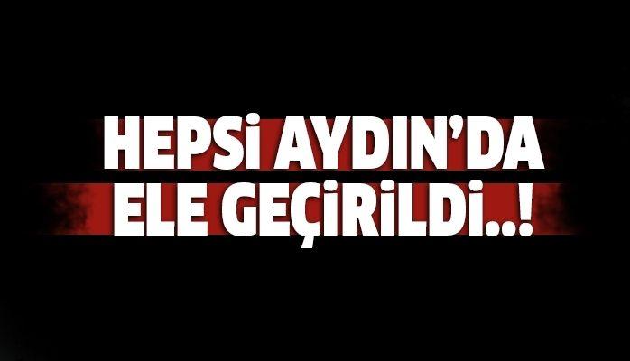 Hepsi Aydın'da yakalandı..!