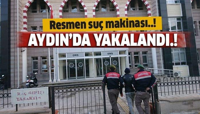 Aydın'da yakalandı