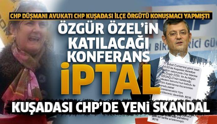 ÖZGÜR ÖZEL'İN KATILACAĞI KONFERANS İPTAL EDİLDİ