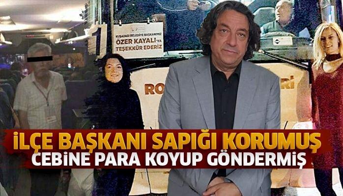 Sapığı İlçe Başkanı Ahmet Ekmekçi koruma altına almış