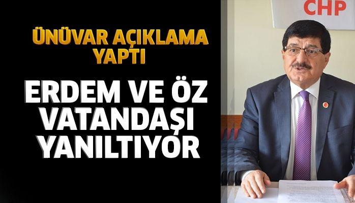 """""""ABDURRAHMAN ÖZ VE MEHMET ERDEM VATANDAŞI YANILTIYOR"""""""