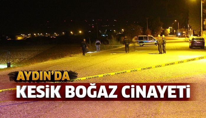 Aydın'da kesik boğaz cinayeti