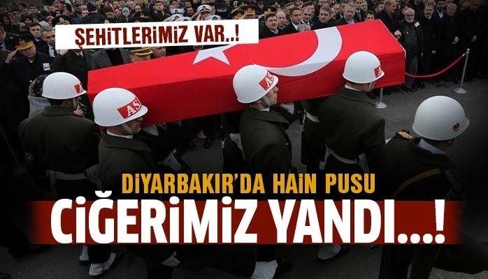Diyarbakır'da hain pusu