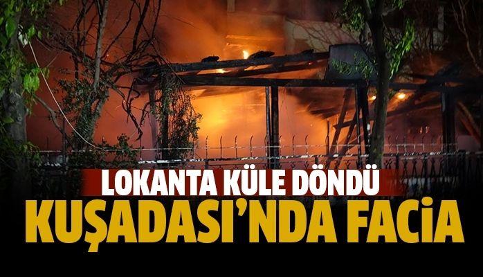 Kuşadası'nda yangın