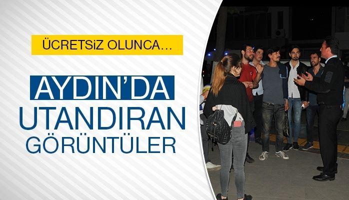 Aydın'da utandıran görüntüler