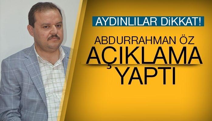 Abdurrahman Öz basın açıklaması yaptı