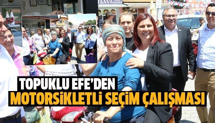 Topuklu Efe Yenipazar'da Motorsikletle Seçim Çalışması yaptı