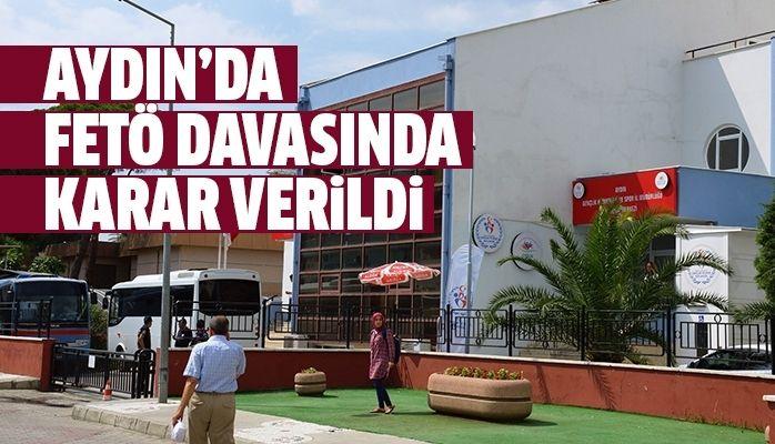 Aydın'da FETÖ davasında karar verildi