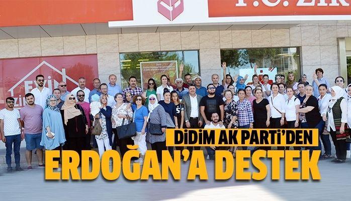 Didim AK Parti'den Erdoğan'a destek