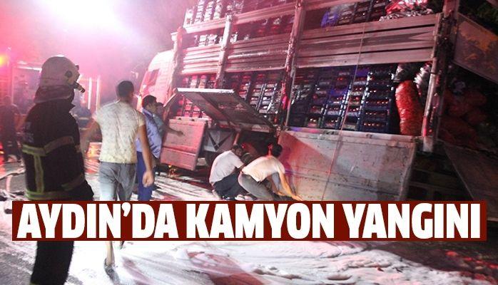 Aydın'da kamyon yangını