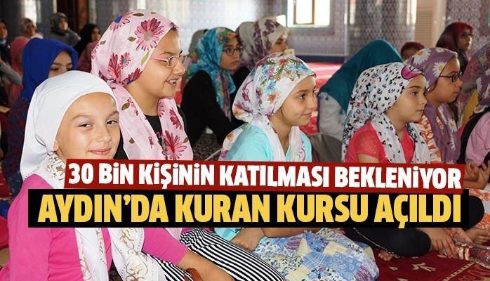 Aydın'da Kuran kursu açıldı