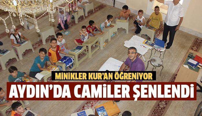 Aydın'da camiler şenlendi