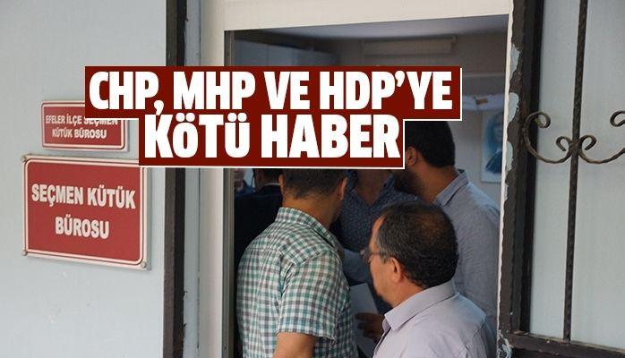 MHP, CHP ve HDP'ye kötü haber