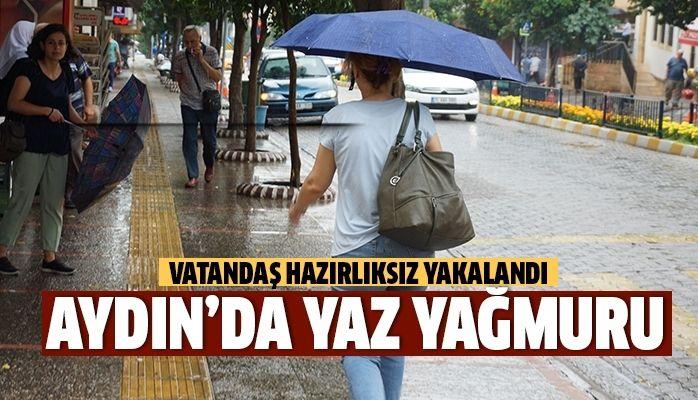 Aydın'da yaz yağmuru